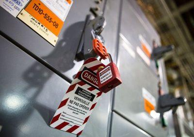 Cadenassage et contrôle des énergies dangereuses