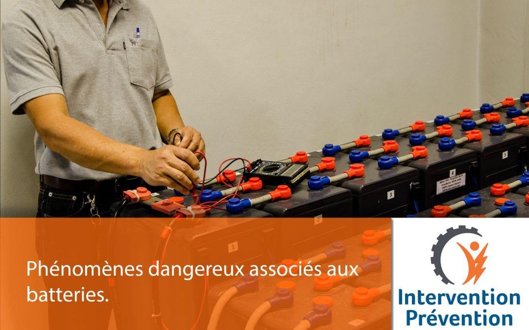 Phénomènes dangereux associés aux batteries
