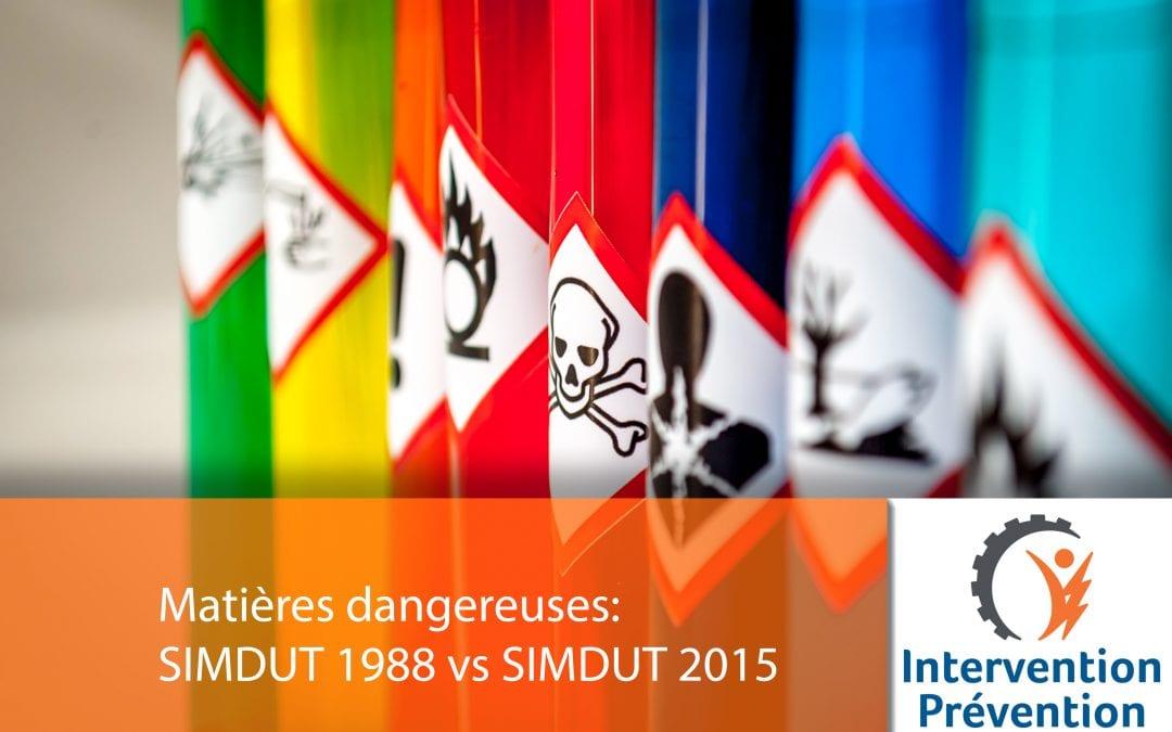 Matières dangereuses: SIMDUT 1988 vs SIMDUT 2015