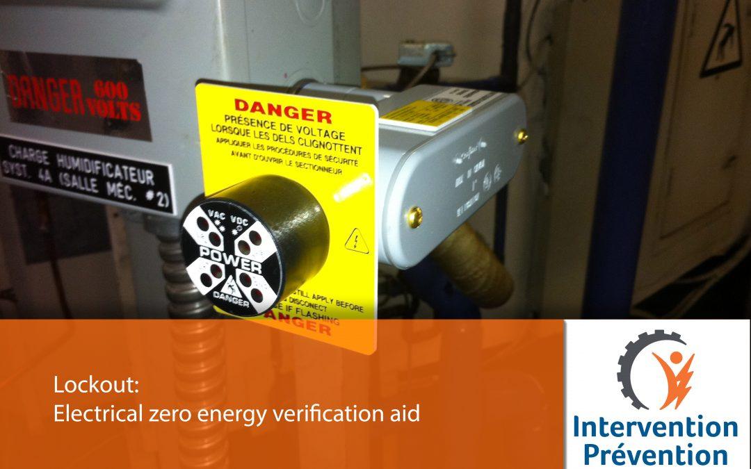 Eletrical zero energy verification aid