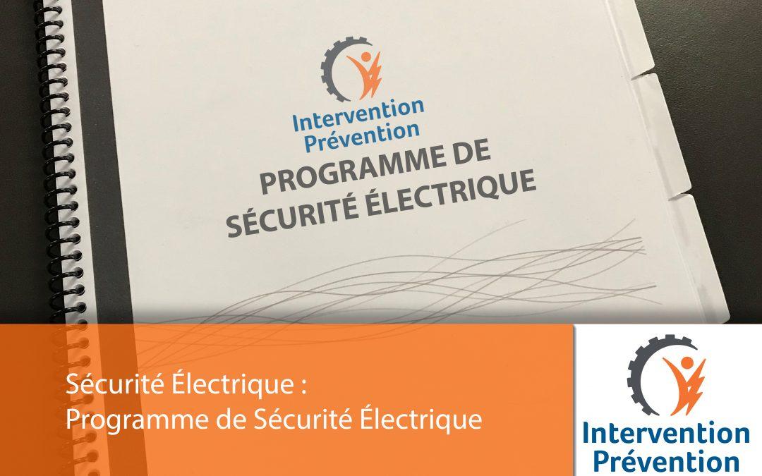 Programme de sécurité électrique