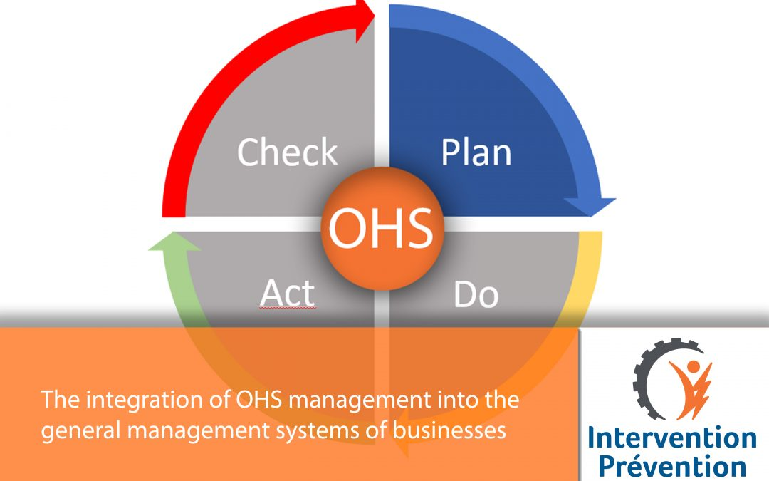 The integration of OHS management into the general management systems of businesses