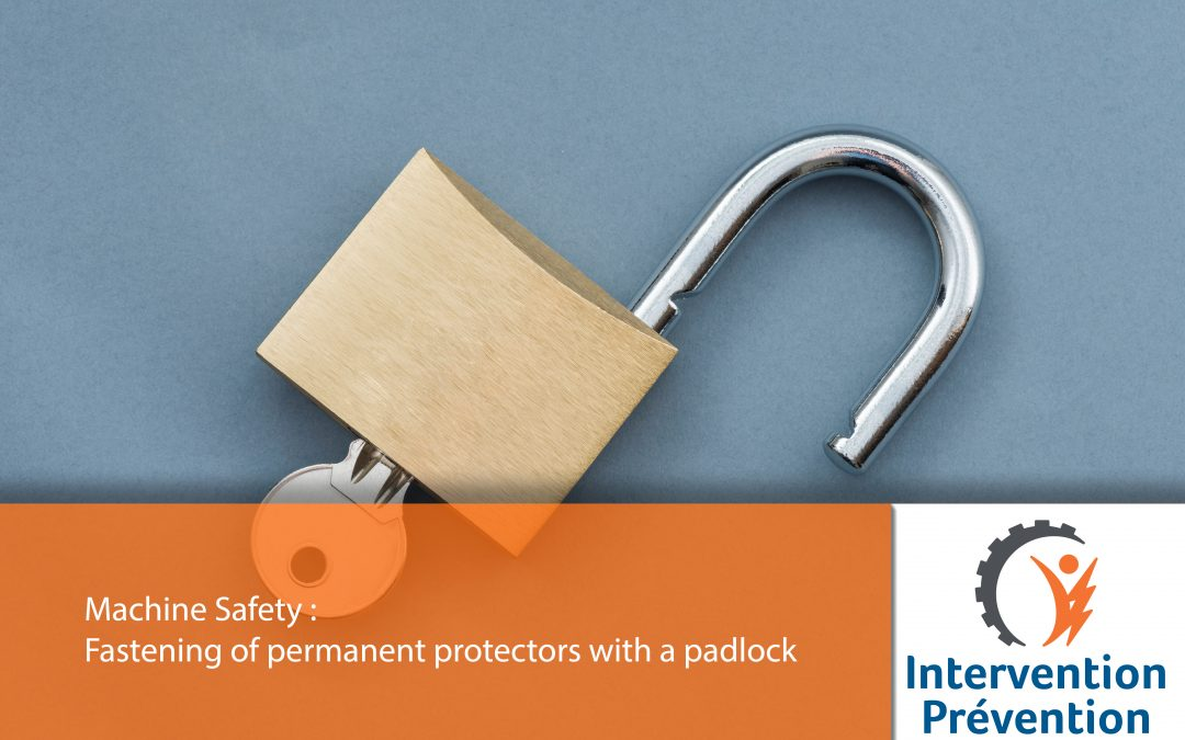 Fastening of permanent protectors with a padlock