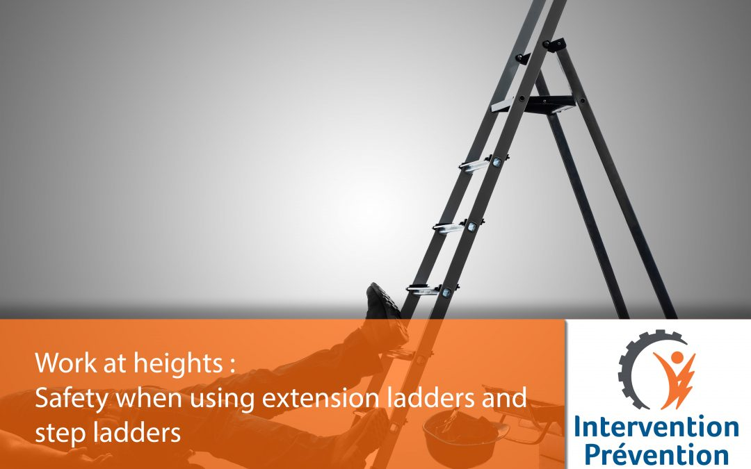 Safety when using extension ladders and step ladders