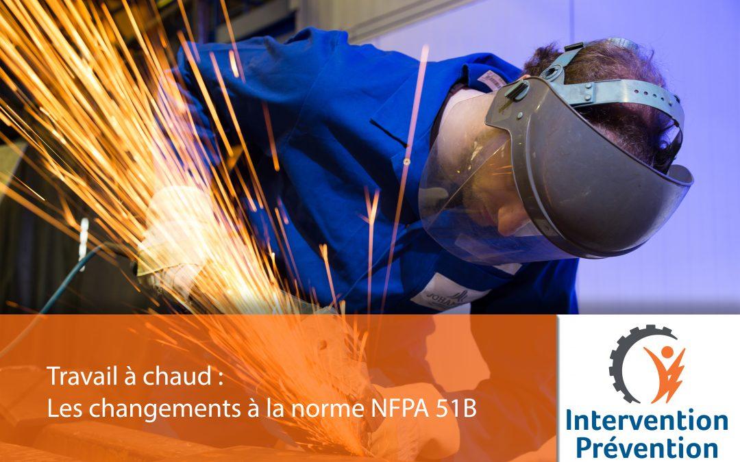 Les changements à la norme NFPA 51B