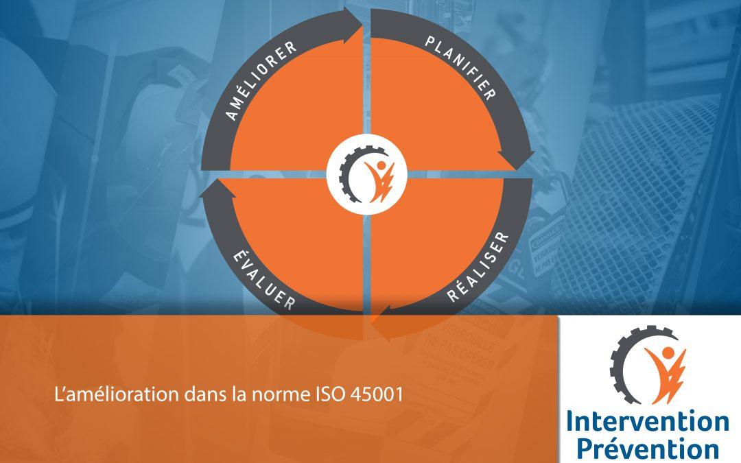 L'amélioration dans la norme ISO 45001