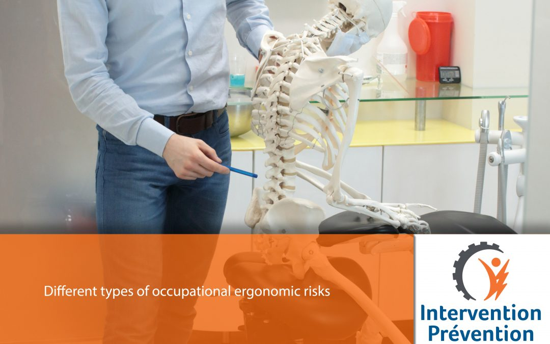 Different types of occupational ergonomic risks