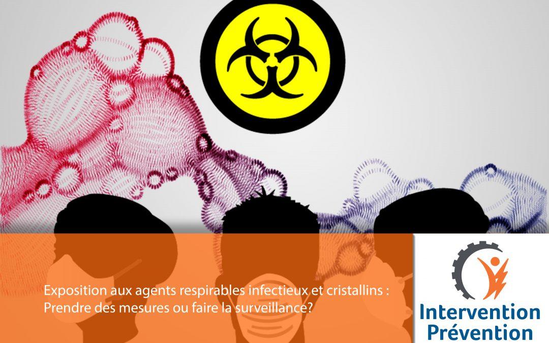 Exposition aux agents respirables infectieux et cristallins : Prendre des mesures ou faire la surveillance?