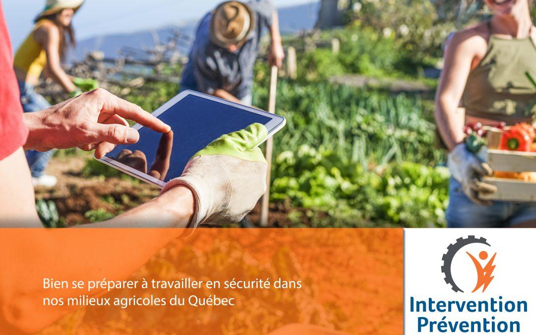 Bien se préparer à travailler en sécurité dans nos milieux agricoles du Québec