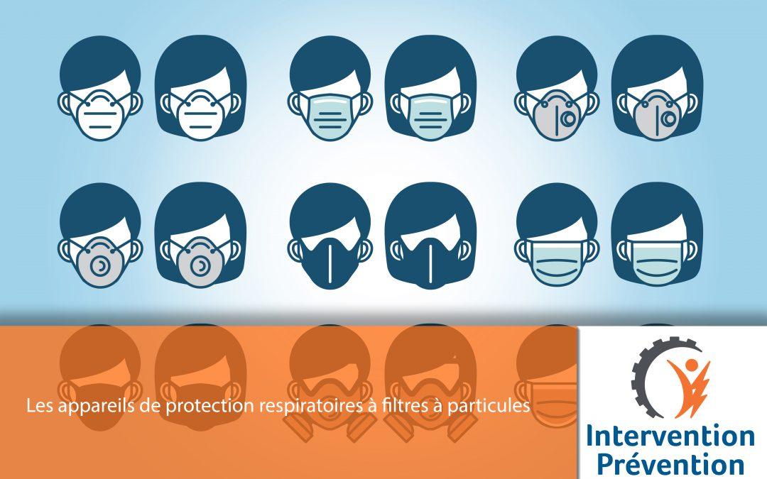 Les appareils de protection respiratoires à filtres à particules