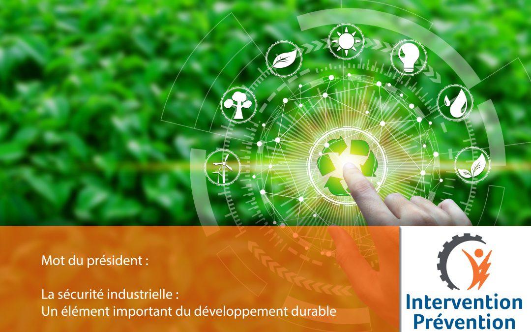 La sécurité industrielle : Un élément important du développement durable